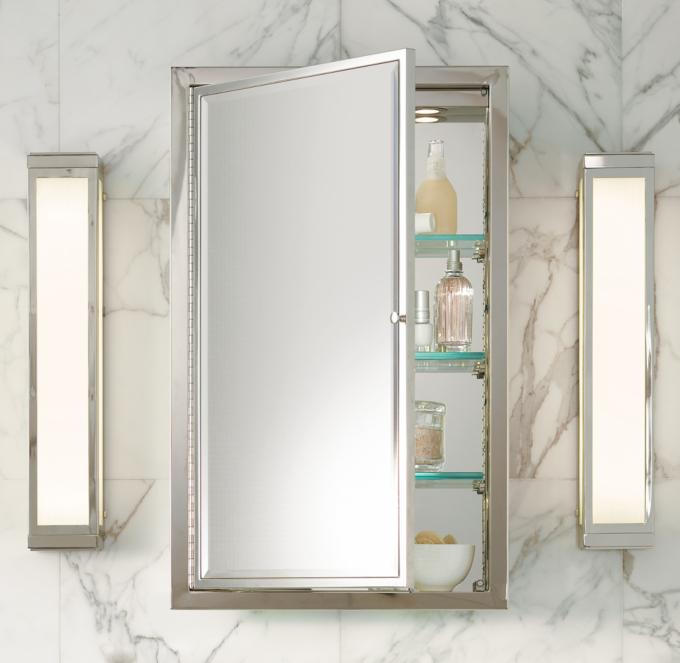 Framed Lit RightOpening Inset Medicine Cabinet