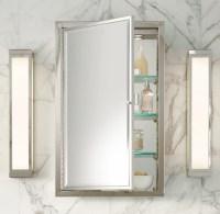 Framed Lit Right-Opening Inset Medicine Cabinet