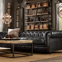 Restoration Hardware Kensington Sofa Leather Chesterfield Next Day Delivery 76