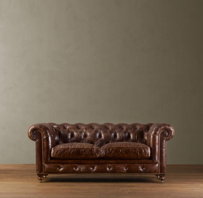 """76"""" Kensington Leather Sofa"""