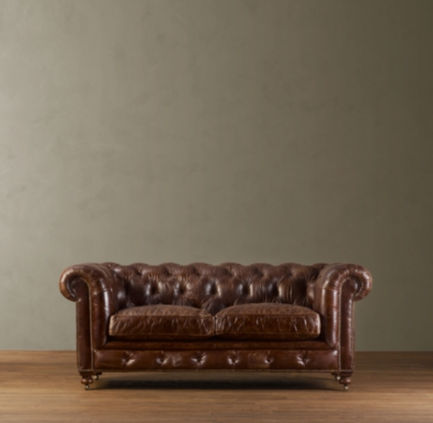 kensington leather sofa restoration hardware how to make a hotel bed more comfortable 76