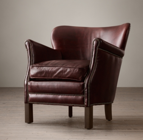 Professors Leather Chair With Nailheads