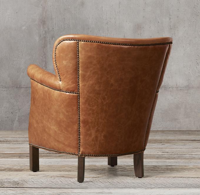 professor chair restoration hardware decorative desk professor's leather with nailheads