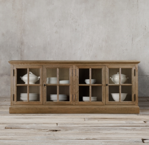 French Casement Glass Sideboard