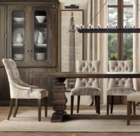 Martine Upholstered Dining Chair (Set of 2 Arm and 4 Side)