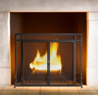 Restoration Hardware Mission Fireplace Screen