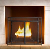 Restoration Hardware Mission Fireplace Screen | Decor Look ...