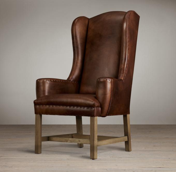 Belfort Wingback Leather Armchair