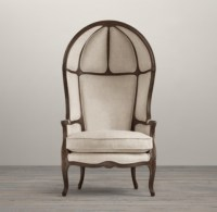 Versailles Burlap-Backed Chair