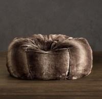Grand Luxe Faux Fur Bean Bag Chair - Mink