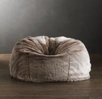 Luxe Faux Fur Bean Bag - Lynx