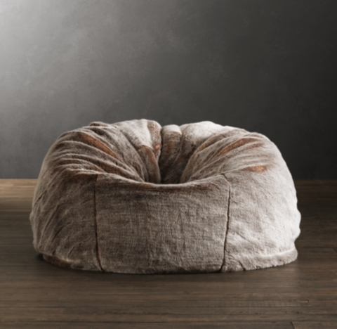 buy bean bag chair swing lowest price bags poufs pelts rh special holiday savings limited time only luxe faux fur