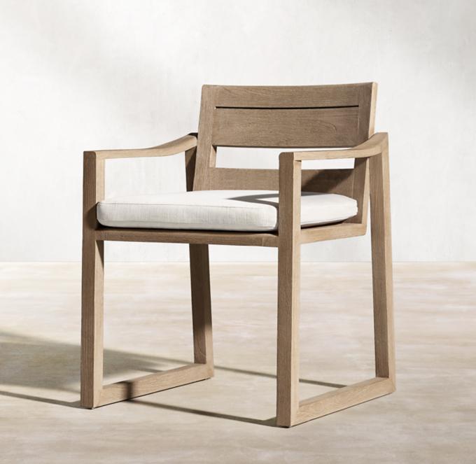 dining chair with armrest leather arm chairs rh new sebastian armchair