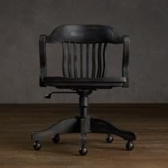 Ergonomic Chair Design Dimensions Casters For Carpet 1940s Banker's - Antiqued Black