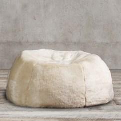 Restoration Hardware Beanbag Chair Stool Bar Luxe Faux Fur Bean Bag Collection Rh