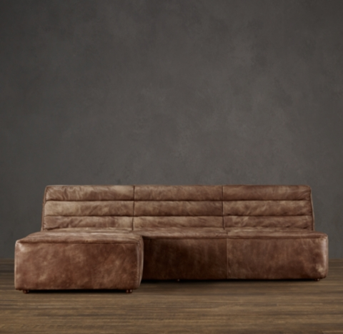 leather sectional sofa restoration hardware little sectionals rh preconfigured chelsea left arm chaise