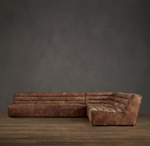 oversized leather sofa restoration hardware small double beds uk chelsea square corner sectional