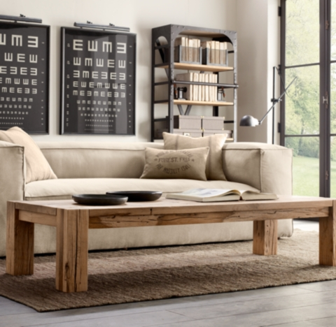 fulham sofa rh modern pull out sleeper restoration hardware style building walnut farm ...