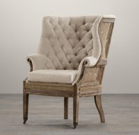 Deconstructed 19th C. English Wingback Chair