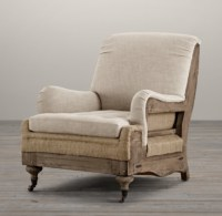 Deconstructed English Roll Armchair