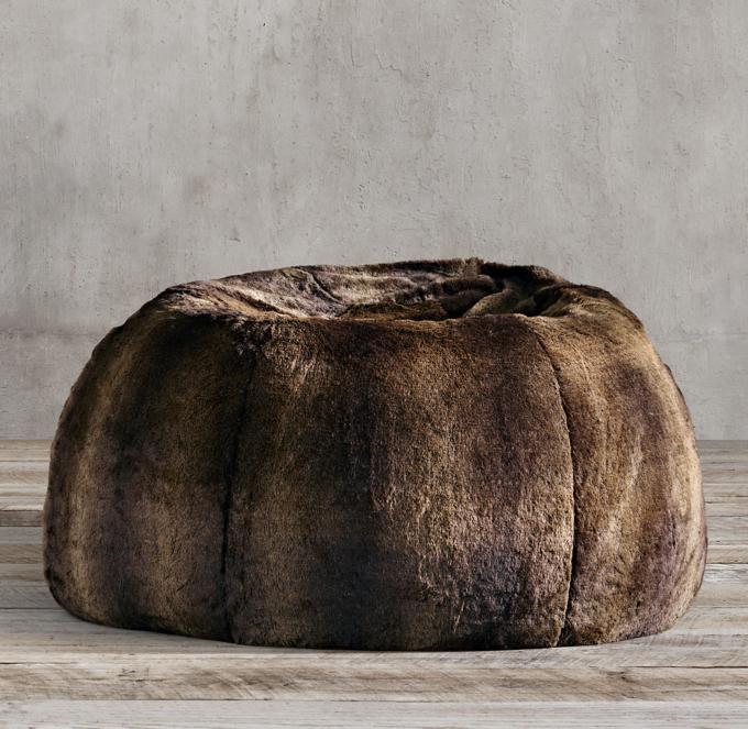 restoration hardware beanbag chair 24 hour luxe faux fur bean bag sable