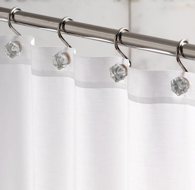 Glass shower curtain hooks set of 12