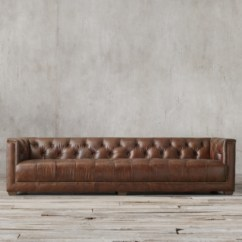 Savoy Leather Sofa Restoration Hardware Customizable Reclining Sectional Collection Rh 4 Lengths