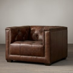 Savoy Leather Sofa Restoration Hardware Table Sale Collection Rh Chair