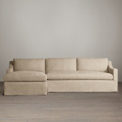 Restoration Hardware Sectional Sofa Linen Cheap Bed Loveseat Collections Rh Belgian Classic Slope Arm Slipcovered Sectionals