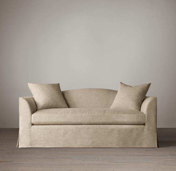 luxe 2 seat sofa slipcover bruhl ersatzteile 6' belgian camelback slipcovered