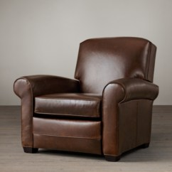 Reclining Club Chair How To Make A Recliners Swivels Rh Lowell Leather Recliner