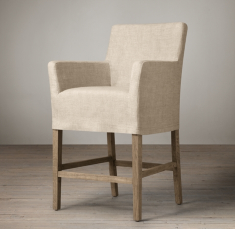 Shown in sand belgian linen with weathered oak drifted finish