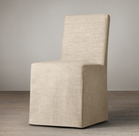 parsons chairs with skirt all modern leather dining chair slipcovered long collection rh side