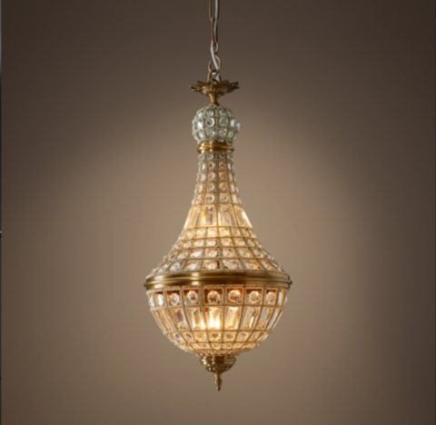 19th C French Empire Crystal Chandelier 14