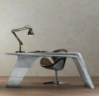 Recycled Aviator Wing Desk & Chair - Bookmarc