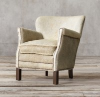 Professor's Chair with Nailheads Hair-On-Hide