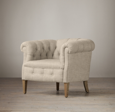 1930s English Tufted Tub Chair