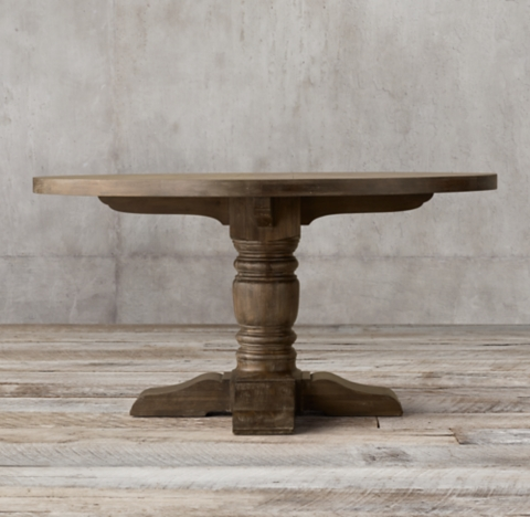 1930s French Farmhouse Round Dining Table