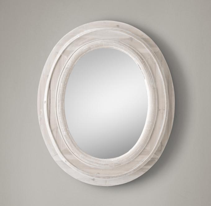 Salvaged Oval Mirror