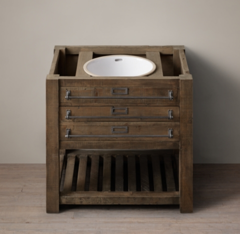 Early 20th C Mercantile Single Washstand