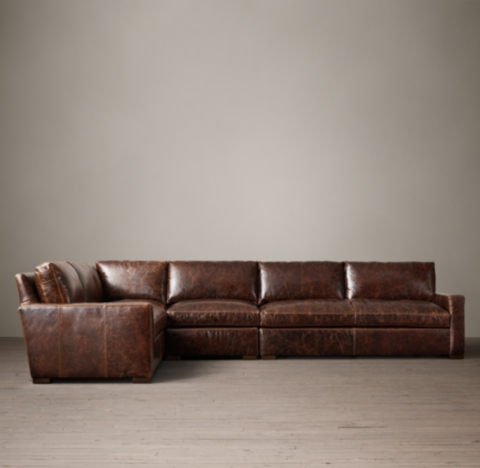 Preconfigured Petite Maxwell Leather LSectional