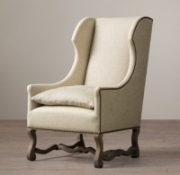 French Baroque Wingback Chair