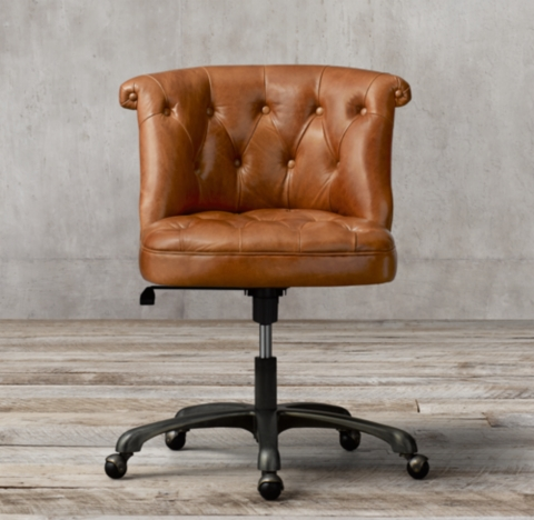 leather desk chairs best office chair for long hours seating rh treviso tufted
