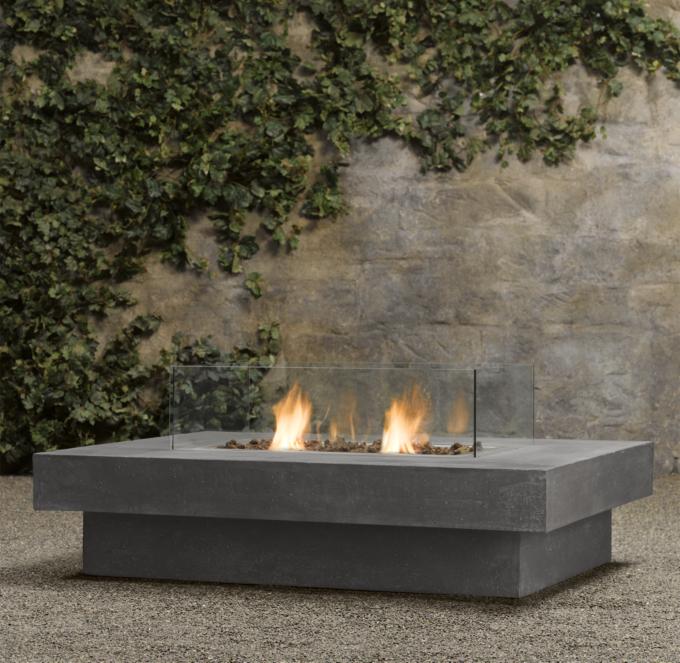 Laguna Concrete Ventless Fire Table  Rectangle