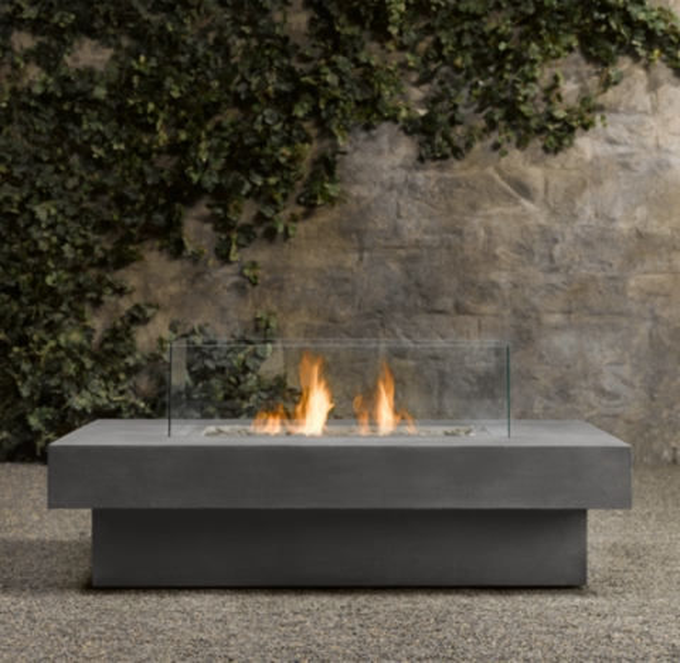 Laguna Concrete Natural Gas Rectangular Fire Table