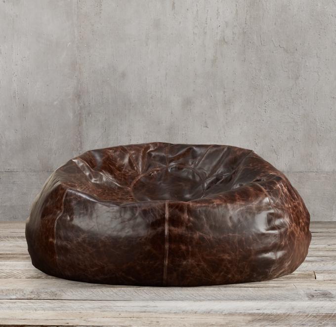 restoration hardware beanbag chair william morris bean bags poufs pelts rh more colors