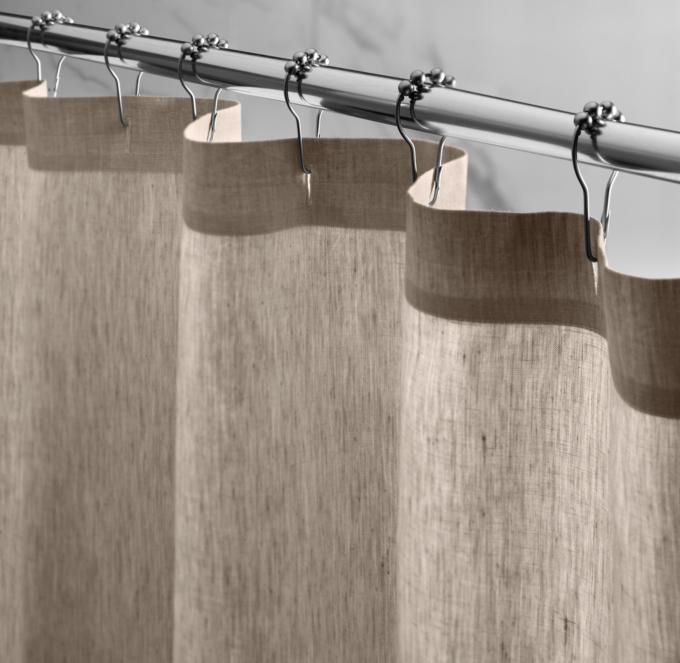VintageWashed Belgian Linen Shower Curtain