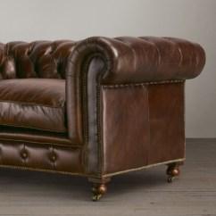 Kensington Leather Sofa Restoration Hardware Bob O Pedic Bed Mattress Reviews