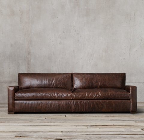 savoy leather sofa restoration hardware ottoman bed double maxwell