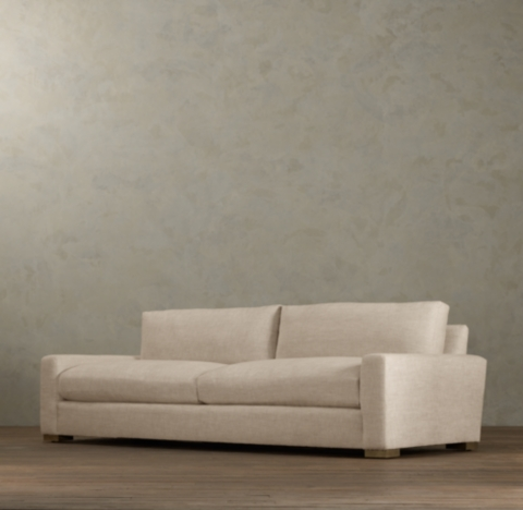 restoration hardware sectional sofa linen faux leather sofas reviews maxwell alternate view 1